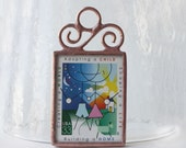 Adoption Stamp Keepsake Ornament Christmas Decoration Soldered Stained Glass