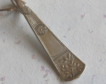 Spoon Key Chain Silverware Keychain Spoon Key Ring Spoon Keychain Nevada Pattern