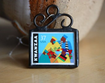 Sale Sale Sale Kwanzaa Stamp Ornament