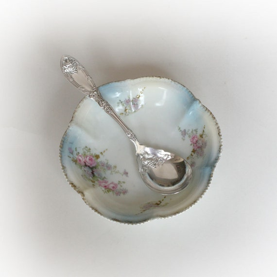 Sugar Shell Jelly Spoon Serving Spoon Vintage Silver Plate Silverware in the La Vigne Pattern