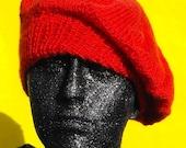 Knitting Pattern digital pdf download -French Style dk Beret Beanie hat knitting pattern- MADMONKEYKNITS
