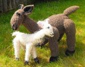 Instant Digital pdf download knitting pattern-Lucy Llama and Baby Lulu toy animal pdf knitting pattern - madmonkeyknits