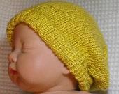 Digital file Pdf Download Knitting pattern- Baby Silk Slouch Beanie hat pdf download knitting pattern