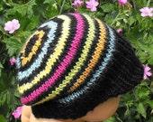 Digital file pdf download  knitting pattern Baby Silk Striped Peak Beanie Cap Hat PDF knitting pattern - madmonkeyknits