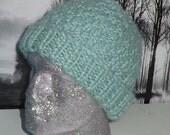Instant Digital File PDF Download knitting pdf - superfast 2 stitch check beanie hat pdf knitting pattern