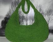 Instant Digital File PDF Download knitting pattern - Superfast Garter Stitch Super Slouch Bag pdf knitting pattern