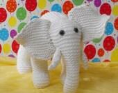 Instant Digital File PDF Download Knitting Pattern -Madmonkeyknits Nursery White Elephant toy animal pdf download
