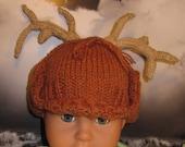 Instant Digital File PDF Download knitting pattern-madmonkeyknits Baby Deerstalker Hat pdf knitting pattern