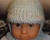 Digital file pdf download knitting pattern-madmonkeyknits Baby Peak Garter Stitch Balaclava Hat pdf knitting pattern