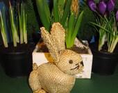 Instant Digital File PDF Download Golden Bunny Rabbit  Toy knitting pattern pdf