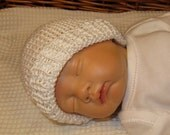 Knitting pattern digital pdf download - Preemie Baby and Tiny Baby Beanie Hat pdf download knitting pattern