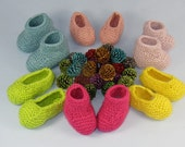 Digital pdf file knitting pattern -Really Easy Baby Booties and Slippers knitting pattern pdf download by madmonkeyknits