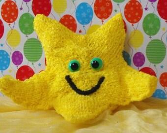 madmonkeyknits- NURSERY STARFISH TOY pdf download knitting pattern - Instant Digital File pdf download knitting pattern