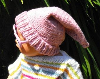 Digital file pdf download knitting pattern only- Baby Pixie Hat pdf download knitting pattern