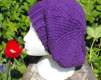 Digital pdf file knitting pattern madmonkeyknits Superfast Slouchy Tam Beanie  hat pdf download knitting pattern