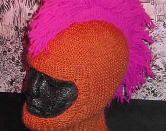 Instant Digital File pdf download madmonkeyknits knitting pattern-Punk Mohican Balaclava & Beanie Hat pdf knitting pattern