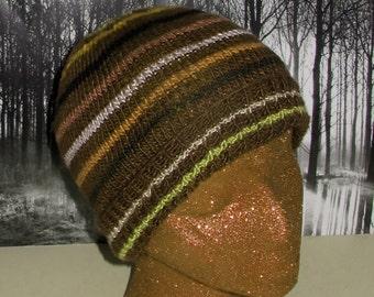 Instant Digital File pdf download Knitting Pattern- Small Stripe Beanie hat knitting pattern pdf download
