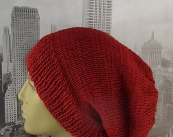 Instant Digital File pdf download Knitting Pattern - City Slouch hat knitting pattern by madmonkeyknits