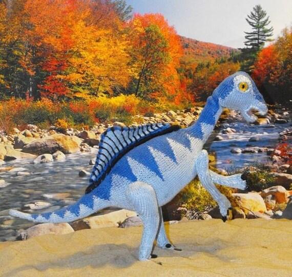 knitting pattern only-Spencer Spinosarus Toy Dinosaur pdf download knitting pattern