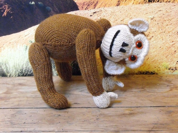 Instant Digital File pdf download knitting pattern - Chester Chimpanzee toy animal pdf download knitting pattern.