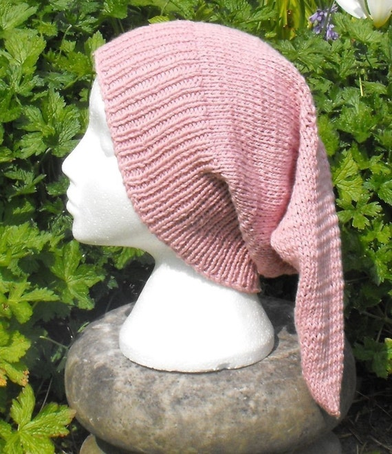 Digital pdf file knitting pattern -- Pixie DK Slouch Hat pdf download knitting pattern