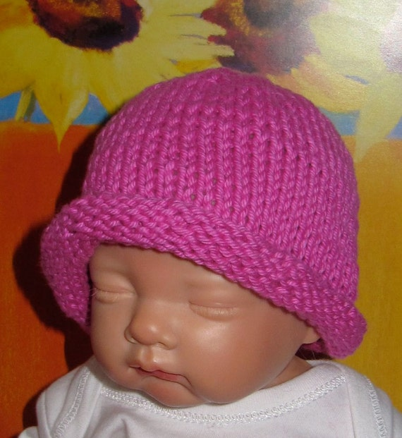Knit Baby Hats Patterns Roll Brim : madmonkeyknits Baby Simple Roll Brim Beanie Hat by madmonkeyknits