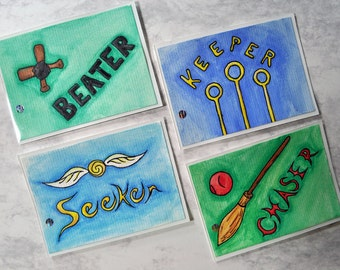 Harry Potter Quidditch Series Artist Trading Cards