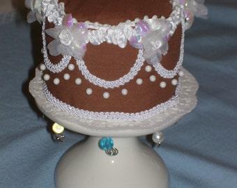 Decorated Chocolate Cake Pincushion
