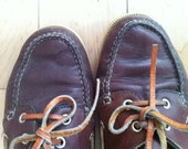 ON SALE Vintage COLEMAN Leather Boat Shoes Womens Size 8