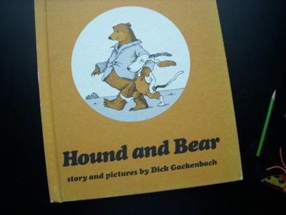 SALE Hound and Bear vintage hardcover book