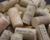 100 Wine Corks -- Assorted Reclaimed Synthetic Corks