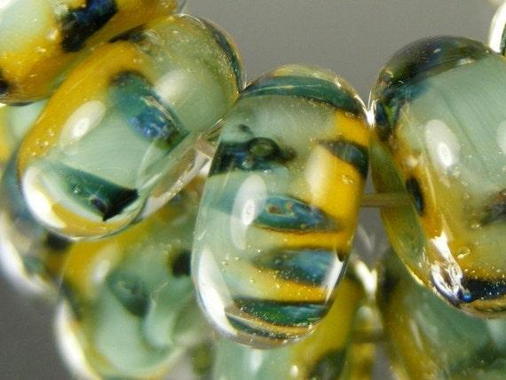 DanielsBeads Boro Lampwork Glass Bead Set (10) ---  Columbia