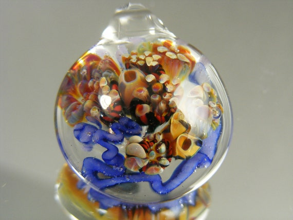 DanielsBeads Boro Lampwork Glass REEF Pendant---   P2