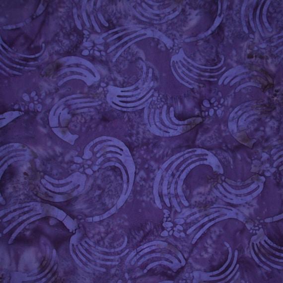 Navy Swish Cotton Batik Fabric
