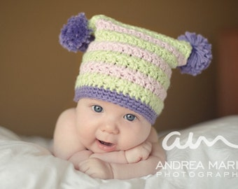 Square Star Stitch Hat (Crochet Pattern)