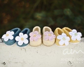Baby Slip-On Booties (Crochet Pattern)