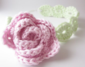 Rosie Wreath Headband (Crochet Pattern)