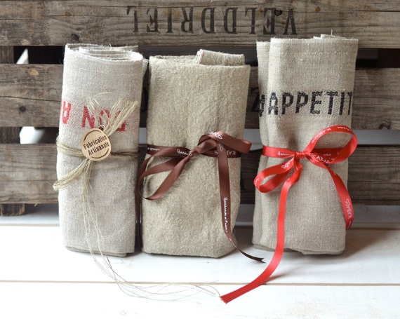 French Wedding Gifts: Items Similar To 6 BON APPETIT French Country Linen Towels