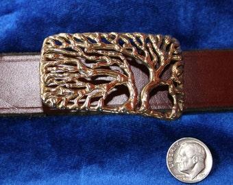 Tree of Life Bronze Belt Buckle