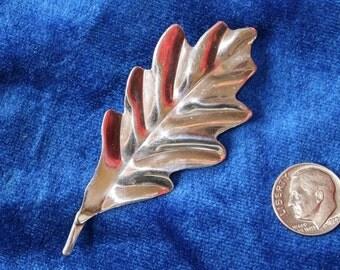 Sterling Silver Oak Leaf Pin
