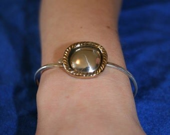 Latching Bracelet - Sterling Silver and Bronze