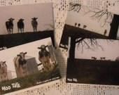 Cows MOO TALK greeting cards