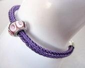 Purple Bracelet with Lampwork beads