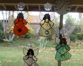 angel stained glass suncatcher