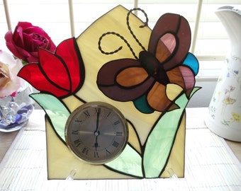 stained glass clock.