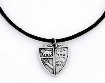Shield necklace Kabbalah symbol for shield and protection