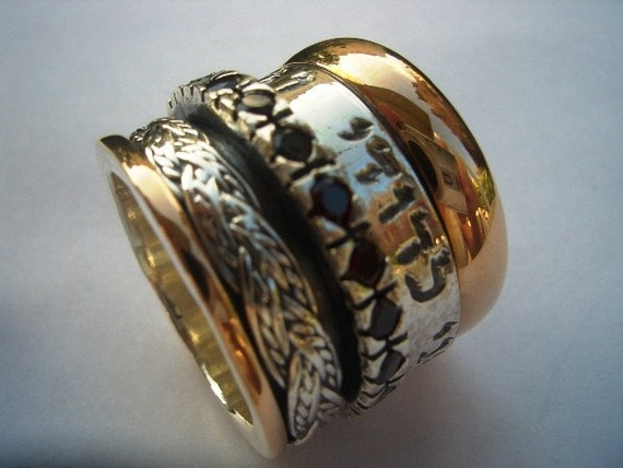 spinner rings personalized rings for couples israeli