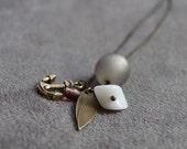 Anchor grey Necklace
