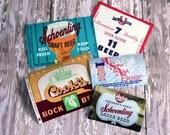 Lot of 5 Unused Paper Beer Labels 1950's U Save Alot Schoenling Cooks Seven Eleven