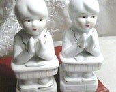 Vintage 1950's Pair of Children Praying Bookends